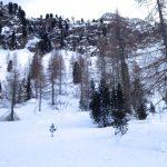 val di fassa con la neve