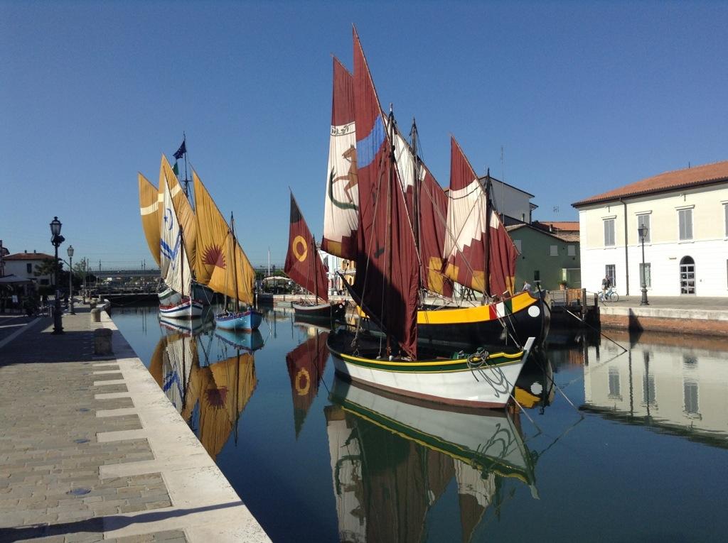 navi storiche nel canale di cesenatico
