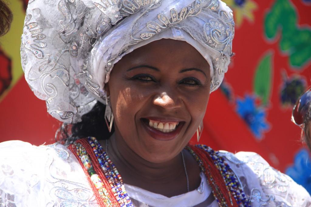 Salvador de Bahia: bahiana con abito tradizionale