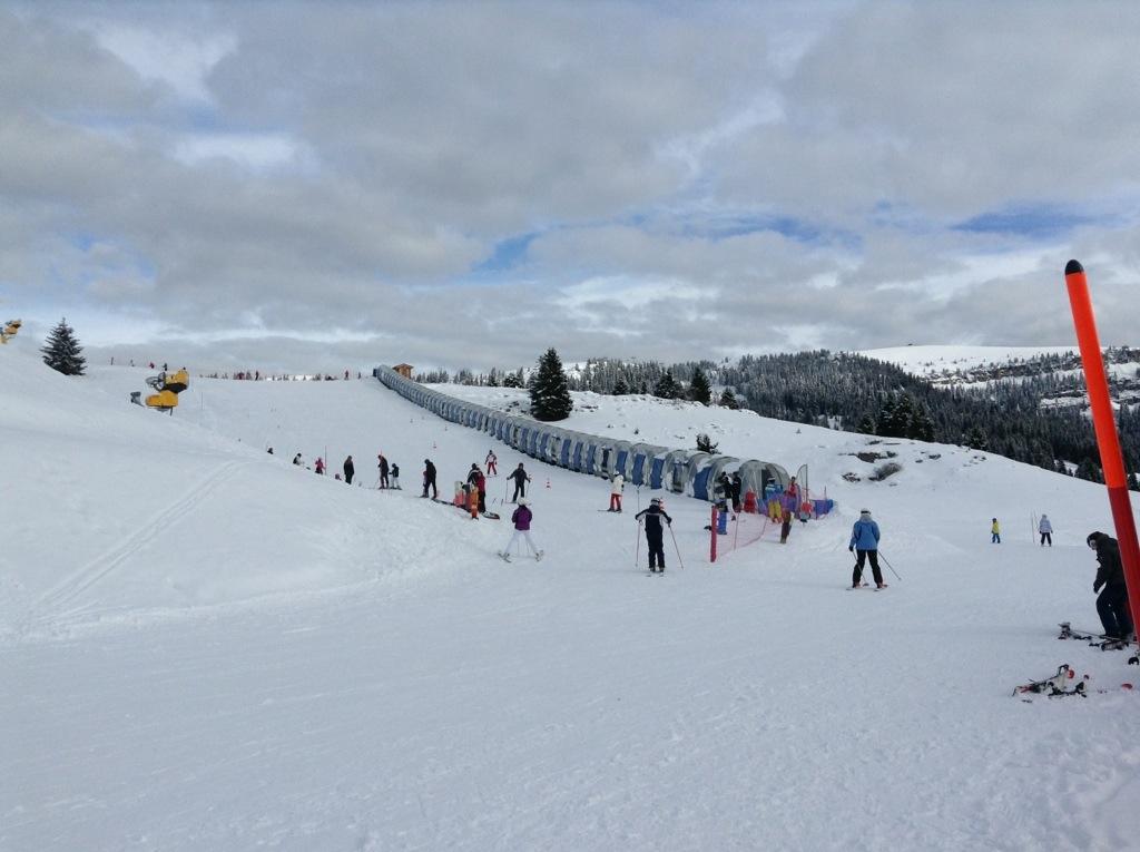 campo prova per sci per bambini