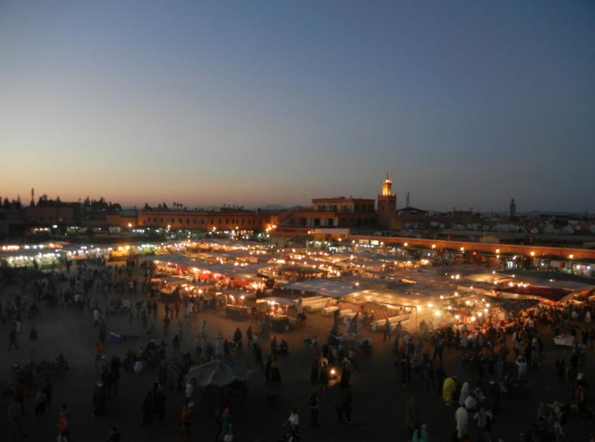 piazza jemaa el fna di notte