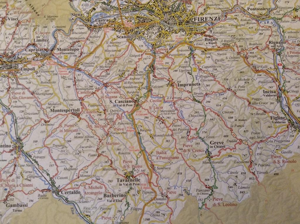 mappa territorio chianti da vivere