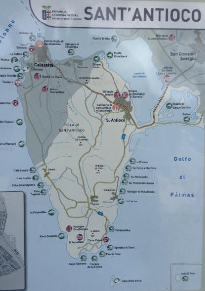 mappa isola sant'antioco