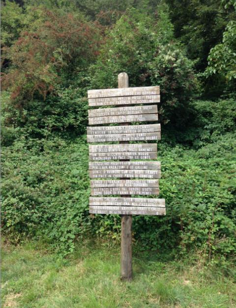 cartello scritta su orsigna
