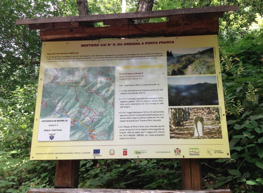 sentiero 5 cai montagna pistoiese