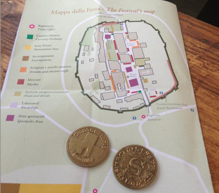 monteriggioni di torri si corona con monete