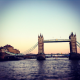 tower bridge al tramonto