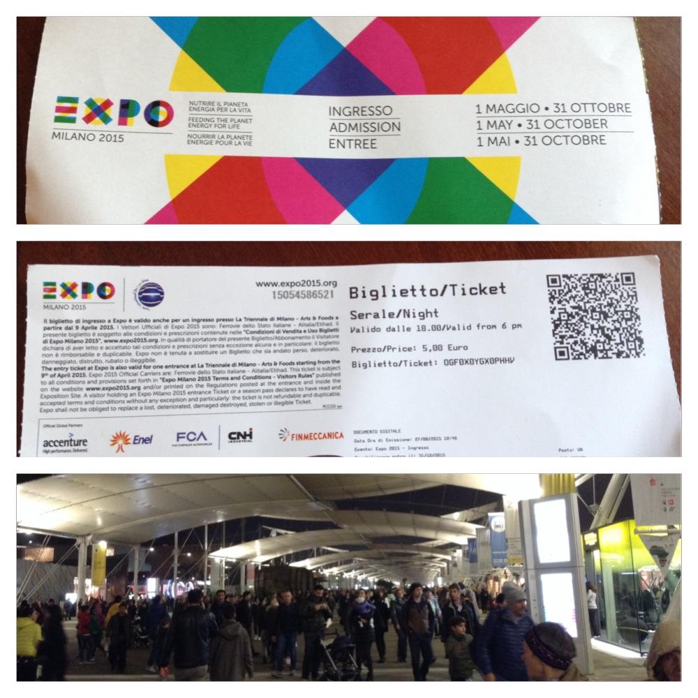 ingresso expo 2015 serale