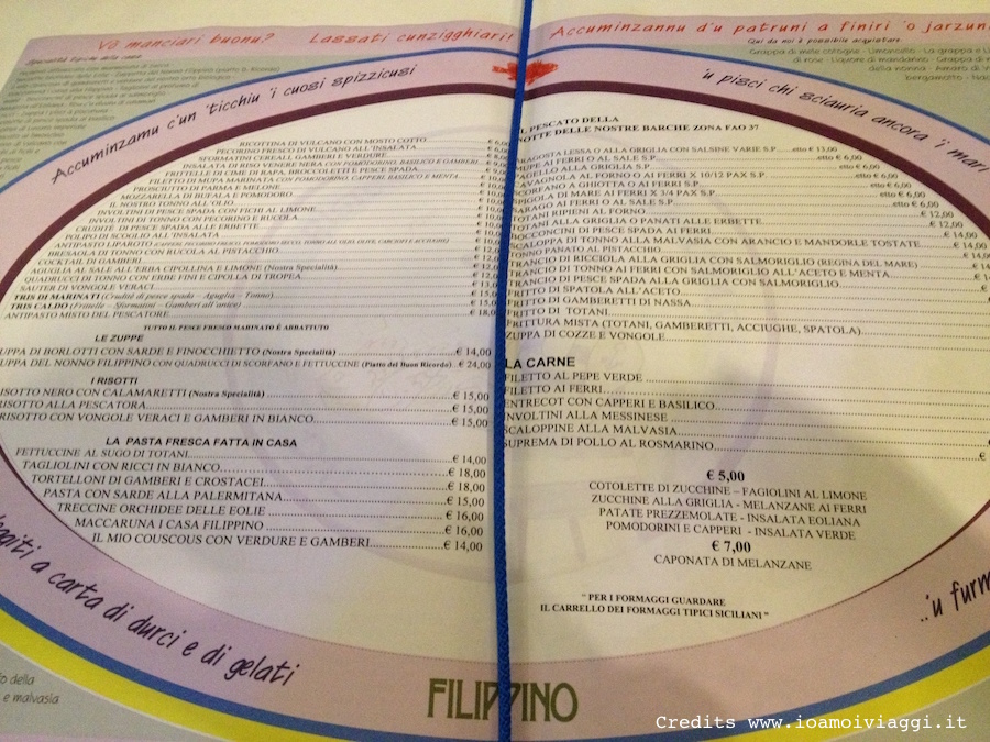 menu filippino