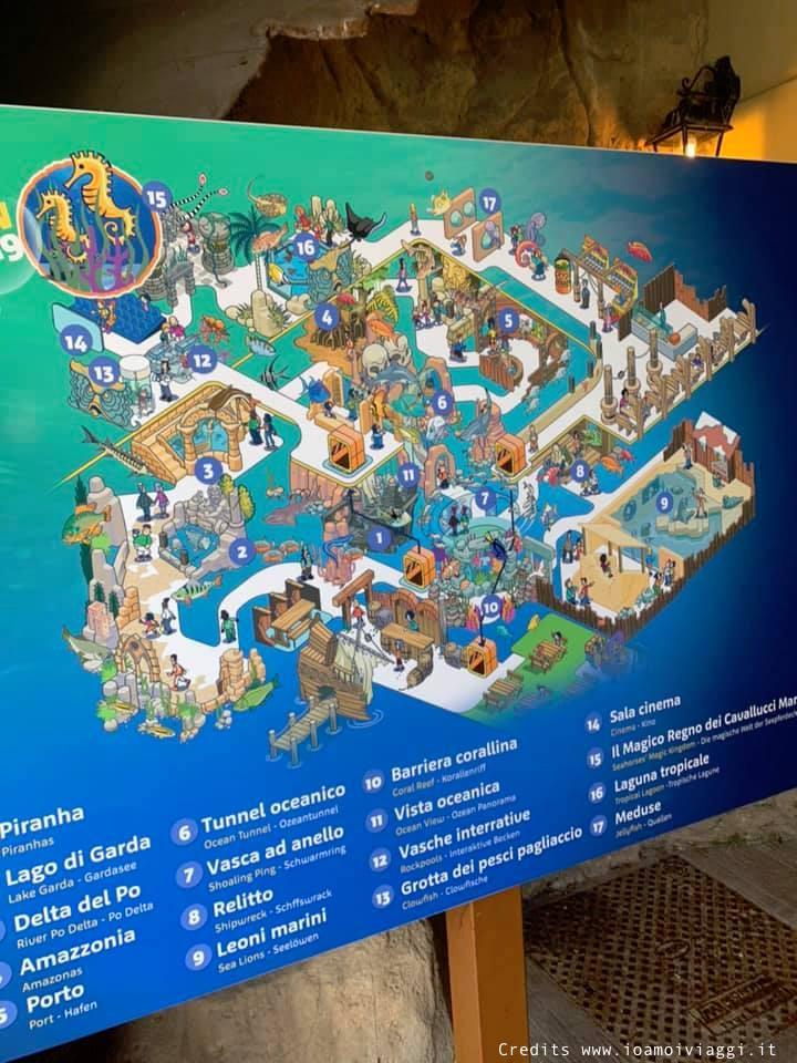 mappa acquario gardaland