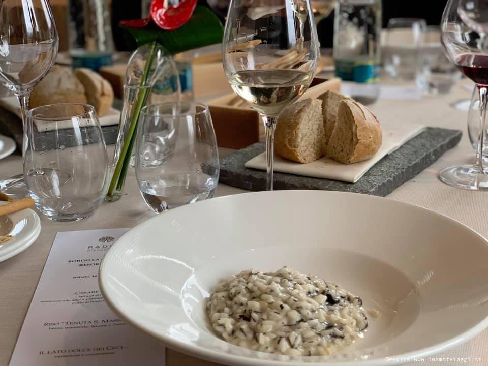 ristorante radici resort la chiaracia risotto tartufo