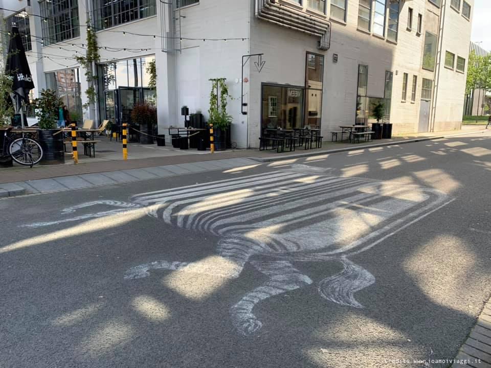 strisce pedonali zebrate