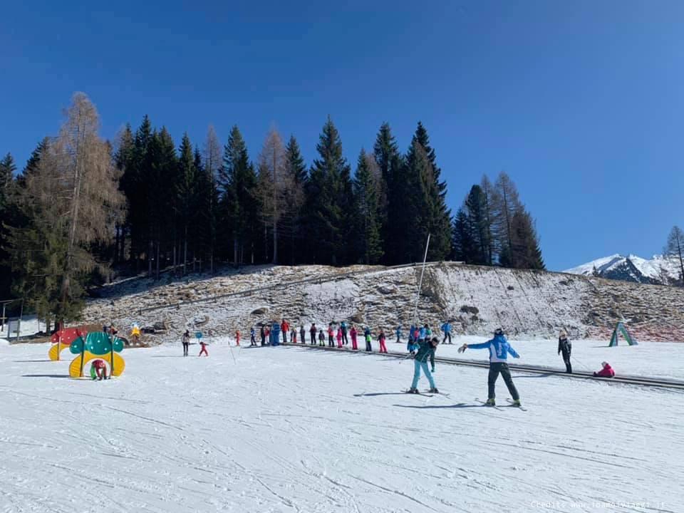 campo scuola per sciare