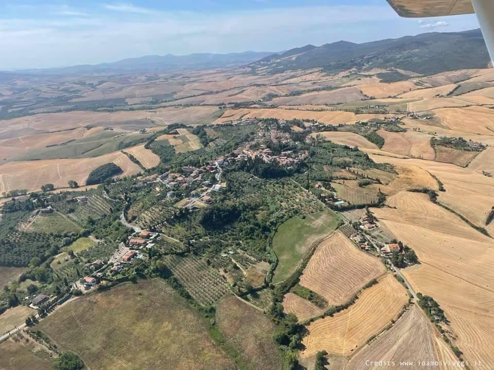 campagna toscana vista da aereo