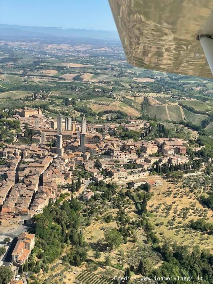 San Gimignano vista dal cielo