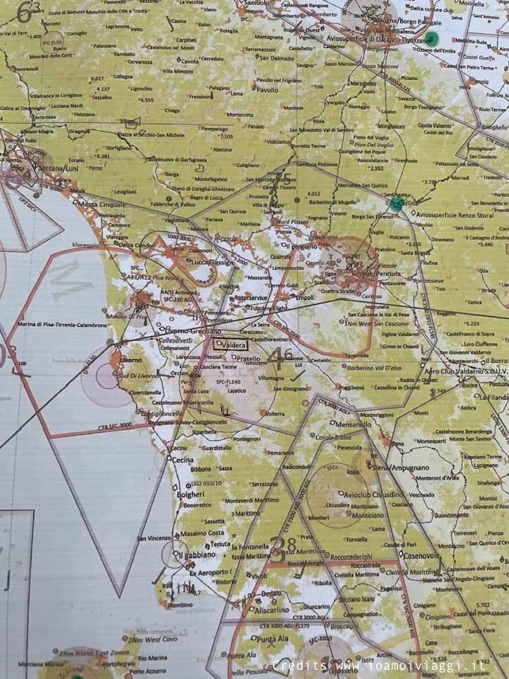 mappa aerea toscana